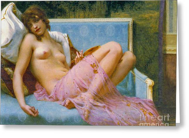 Indolence 1900 Greeting Card by Padre Art
