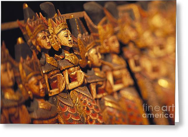Indonesian Dolls Greeting Card by Dana Edmunds - Printscapes