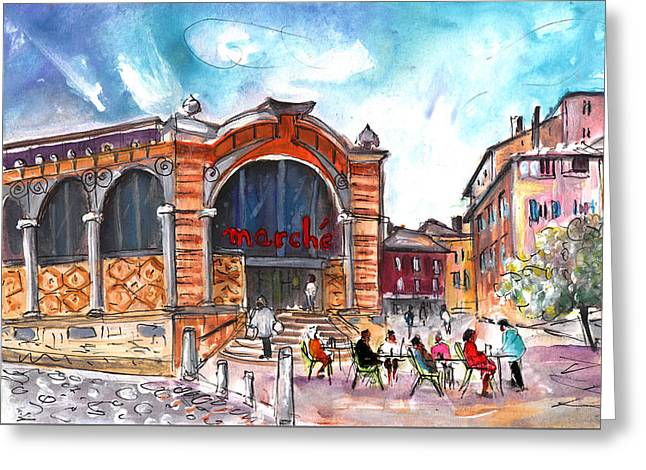 Indoor Market In Albi Greeting Card by Miki De Goodaboom