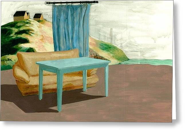 Indoor Outdoor Greeting Card by Adrienne Romine