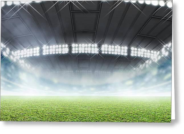Indoor Stadium Generic Greeting Card by Allan Swart