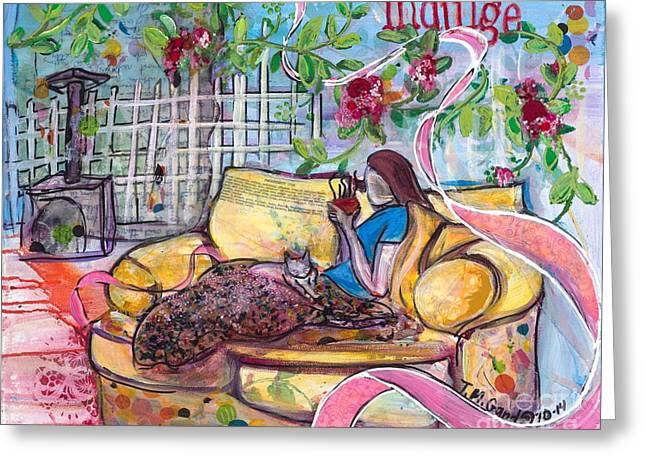 Greeting Card featuring the painting Indulge by TM Gand