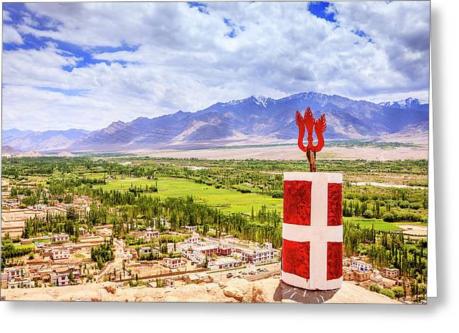 Greeting Card featuring the photograph Indus Valley by Alexey Stiop
