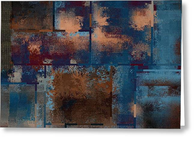 Industrial Abstract - 15t03 Greeting Card by Variance Collections