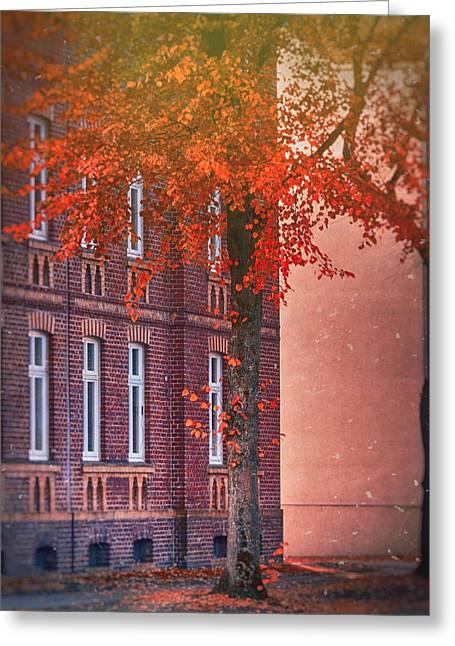 Industrial Autumn Greeting Card by Nicole Frischlich