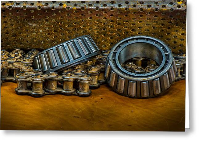 Industrial Bearings Still Life Greeting Card by Paul Freidlund