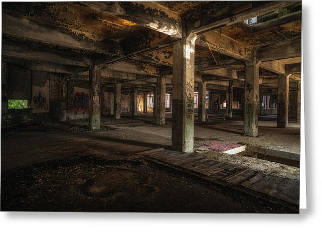 Industrial Catacombs Greeting Card