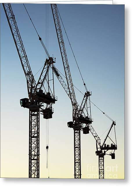 Industrial Cranes Greeting Card