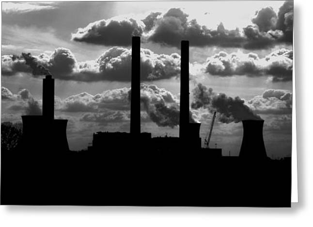 Industrial Night Greeting Card