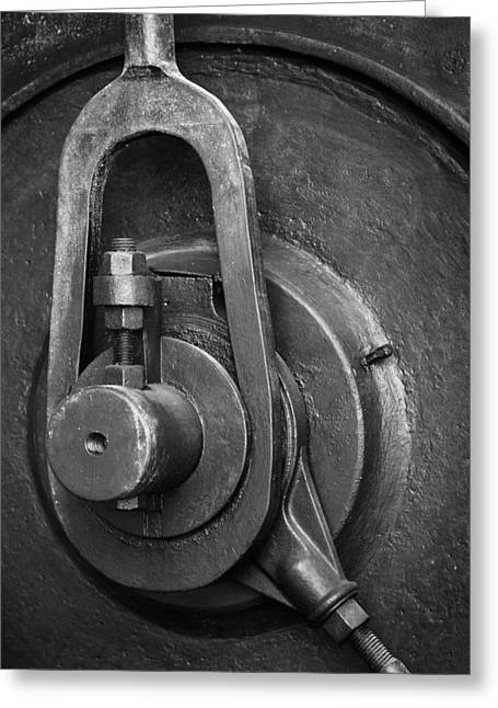 Rotation Photographs Greeting Cards - Industrial detail Greeting Card by Carlos Caetano
