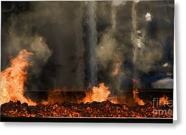 Industrial Fire Greeting Card