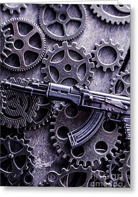 Industrial Firearms  Greeting Card by Jorgo Photography - Wall Art Gallery