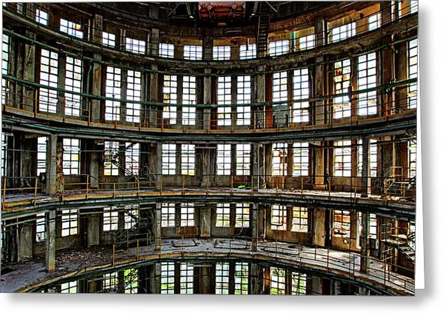Greeting Card featuring the photograph Industrial Heritage - Urban Exploration by Dirk Ercken