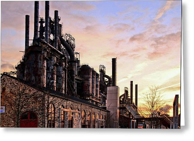Industrial Landmark Greeting Card