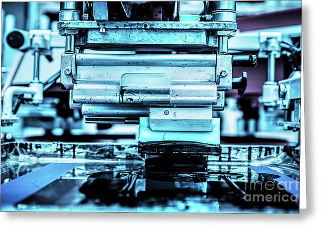 Industrial Metal Printing Machinery. Greeting Card
