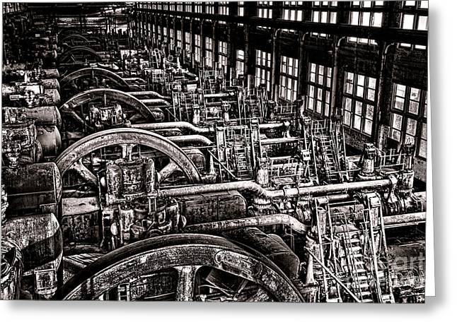 Industrial Revolution  Greeting Card by Olivier Le Queinec