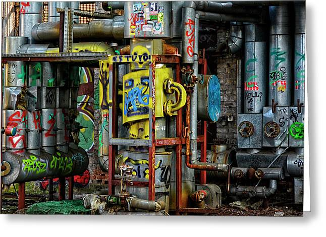 Industrial Steampunk Greeting Card by Joachim G Pinkawa