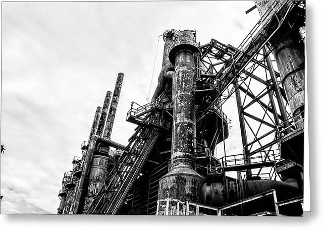 Industrial Steel Stacks - Bethlehem Pa Greeting Card