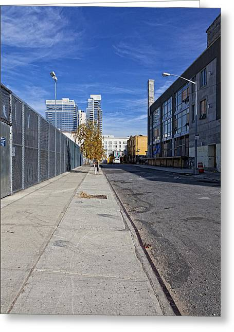 Industrial Street Greeting Card by Robert Ullmann
