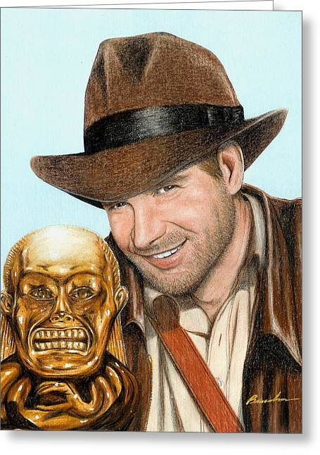 Indy Greeting Card by Bruce Lennon