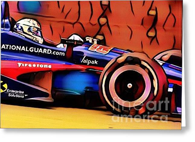 Indy Car Greeting Card by Douglas Sacha