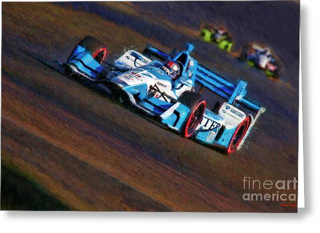 Indy Car Marco Andretti 2017 Greeting Card