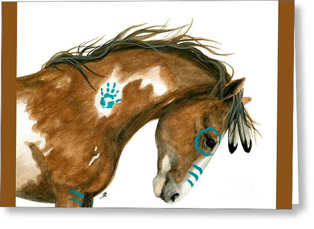 Indy Pinto Horse Greeting Card