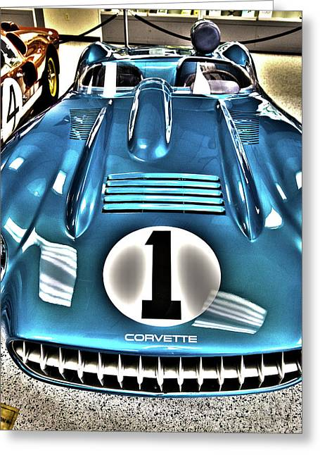 Indy Race Car Museum Corvette Greeting Card by ELITE IMAGE photography By Chad McDermott