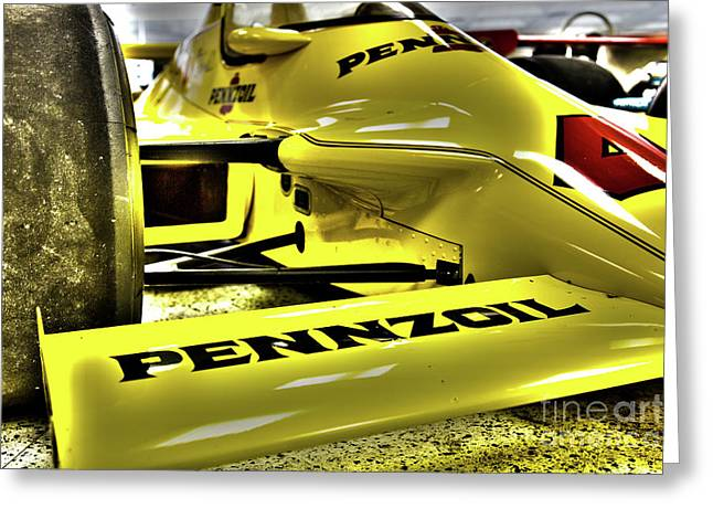 Indy Race Car Museum Pennzoil Greeting Card by ELITE IMAGE photography By Chad McDermott