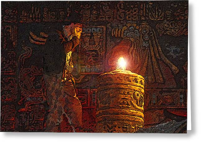 Indys Golden Idol Greeting Card by David Lee Thompson