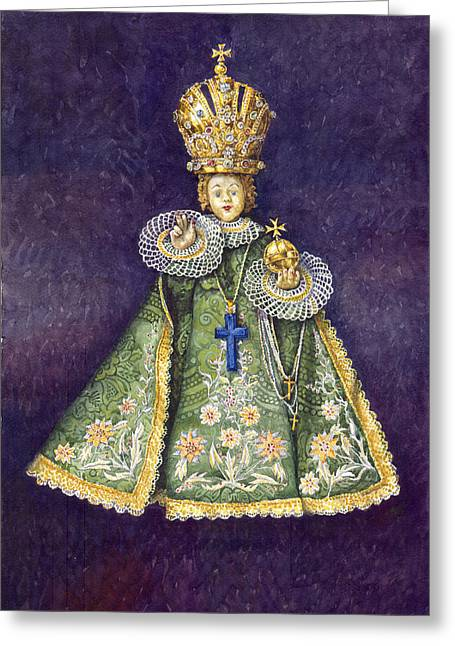 Infant Jesus Of Prague Greeting Card by Yuriy  Shevchuk