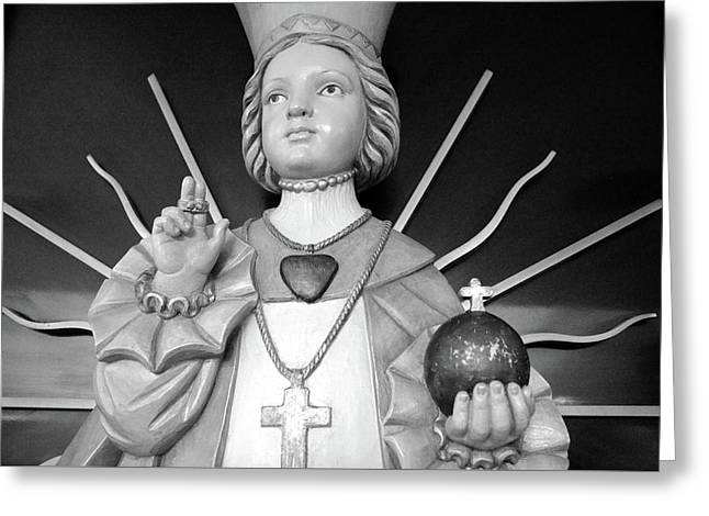 Greeting Card featuring the photograph Infant Of Prague by Jeanette O'Toole