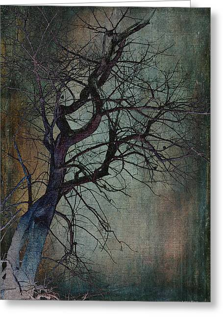 Infared Tree Art Twisted Branches Greeting Card
