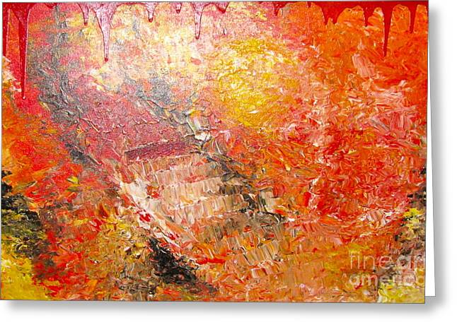 Inferno Greeting Card by Jacqueline Athmann