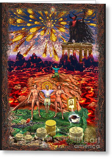 Inferno Of Messages Greeting Card