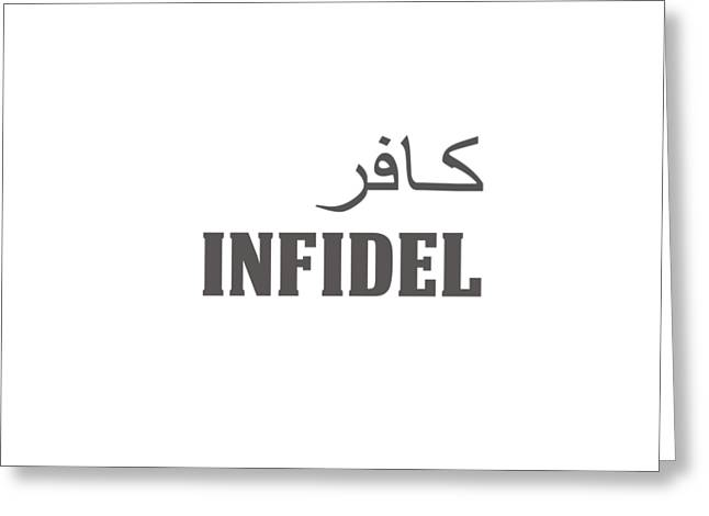 Infidel Greeting Card by Linda Bissett