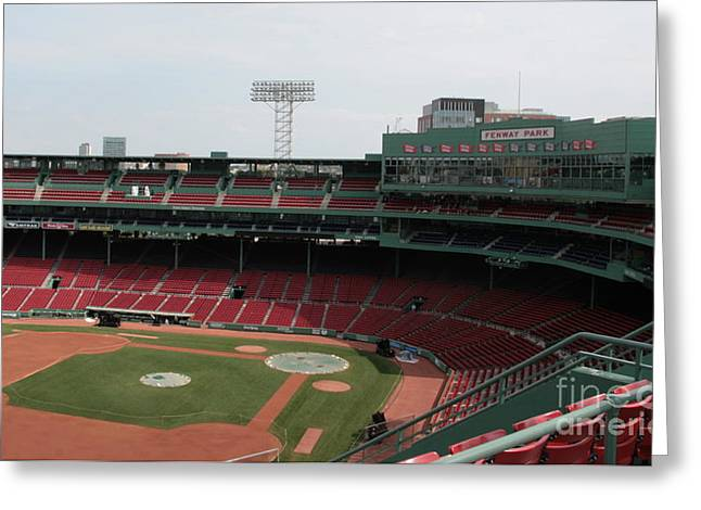 Boston Red Sox Greeting Cards - Infield Greeting Card by Jonathan Harper