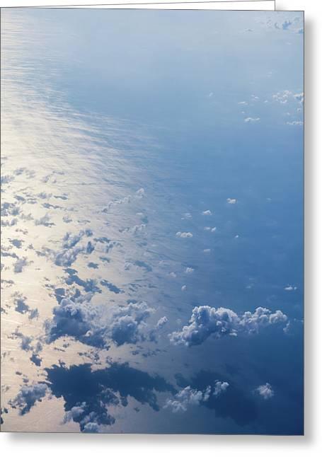 Infinite Blue Greeting Card by Yuka Ogava
