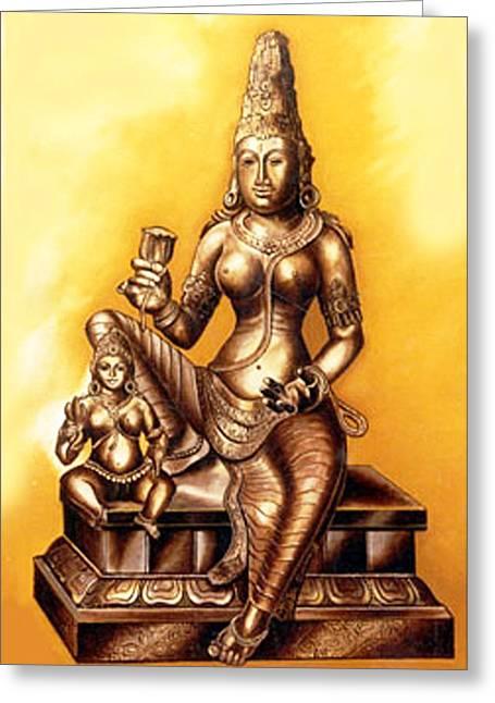 Greeting Card featuring the painting Infinite Love by Ragunath Venkatraman