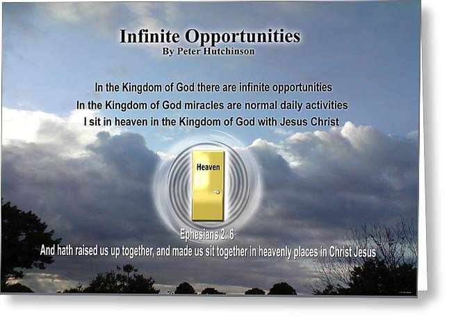 Infinite Opportunities Greeting Card