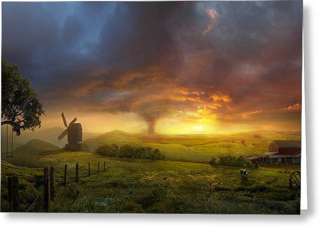 Sunset landscape greeting cards fine art america infinite oz greeting card m4hsunfo
