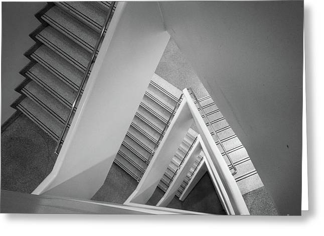 Infinite Stairs Greeting Card by Inge Johnsson