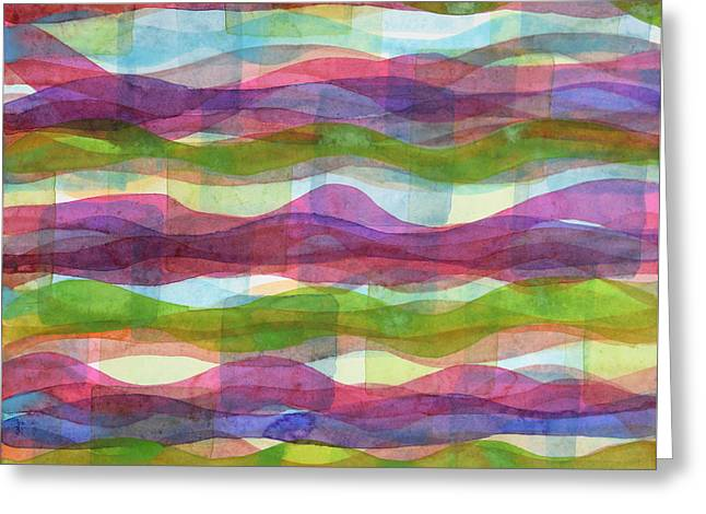 Infinite Waves Greeting Card by Heidi Capitaine