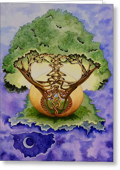 Infinitree Greeting Card by Joyce Hutchinson