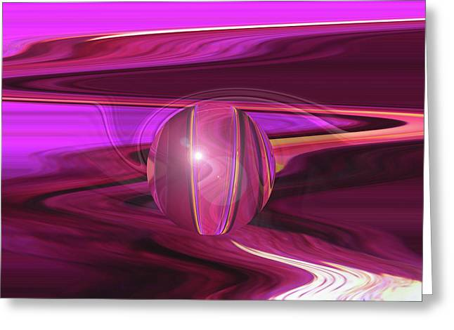 Infinity And Beyond - Abstract Iris Photography Greeting Card