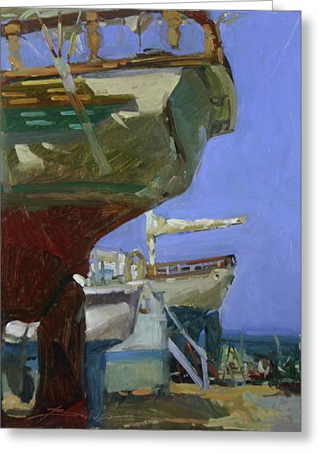 Infinity Awaiting Winter - Plein Air Catalina Island Greeting Card