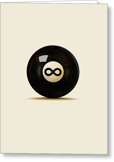 Magic 8 ball greeting cards fine art america infinity ball greeting card m4hsunfo