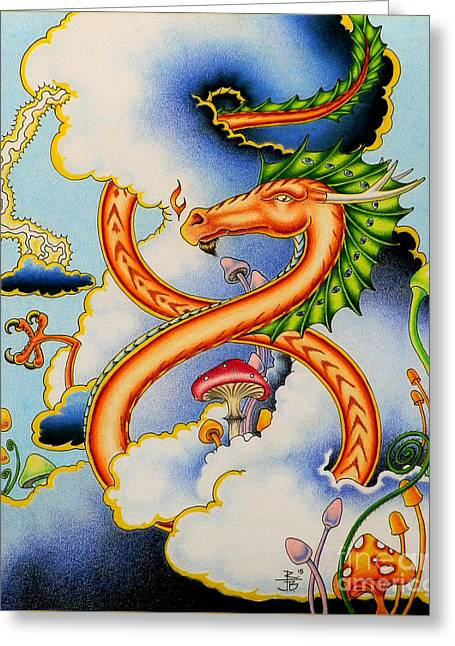 Infinity Dragon Greeting Card