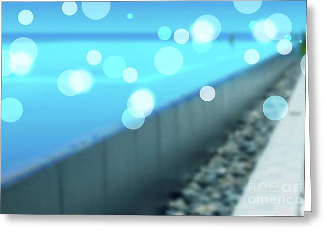Greeting Card featuring the photograph Infinity Pool by Atiketta Sangasaeng