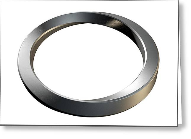 Infinity Ring Greeting Card by Allan Swart